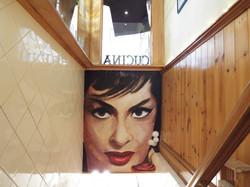 Italian Club Restaurant Gina Lollobrigida Mural