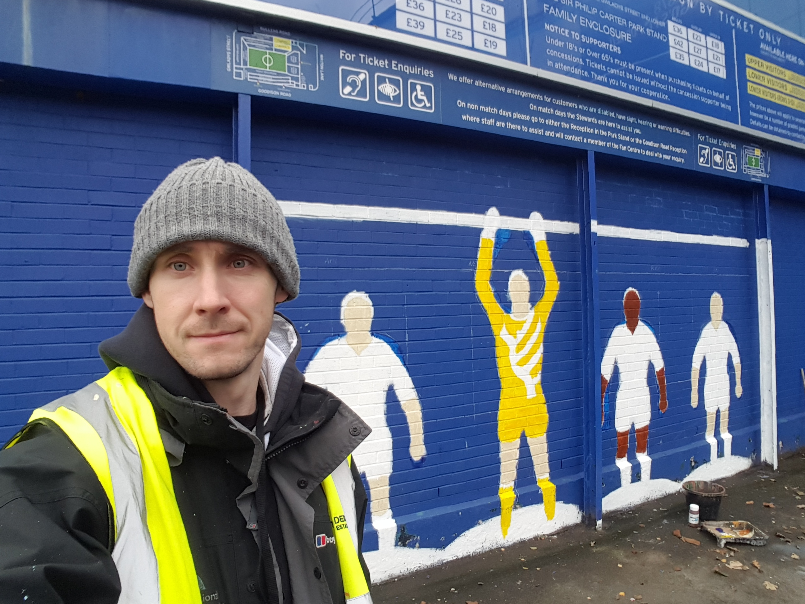 EFC Subbuteo Mural, work in progress