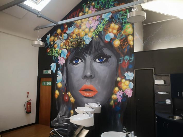 Graffiti girl mural