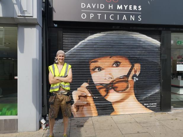 Audrey Hepburn Mural, Paul Curtis