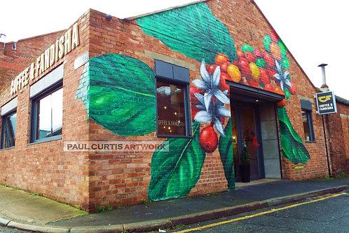 Coffee Plant Mural. Print.