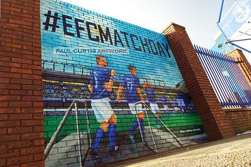 Everton Match Day Mural. Print.