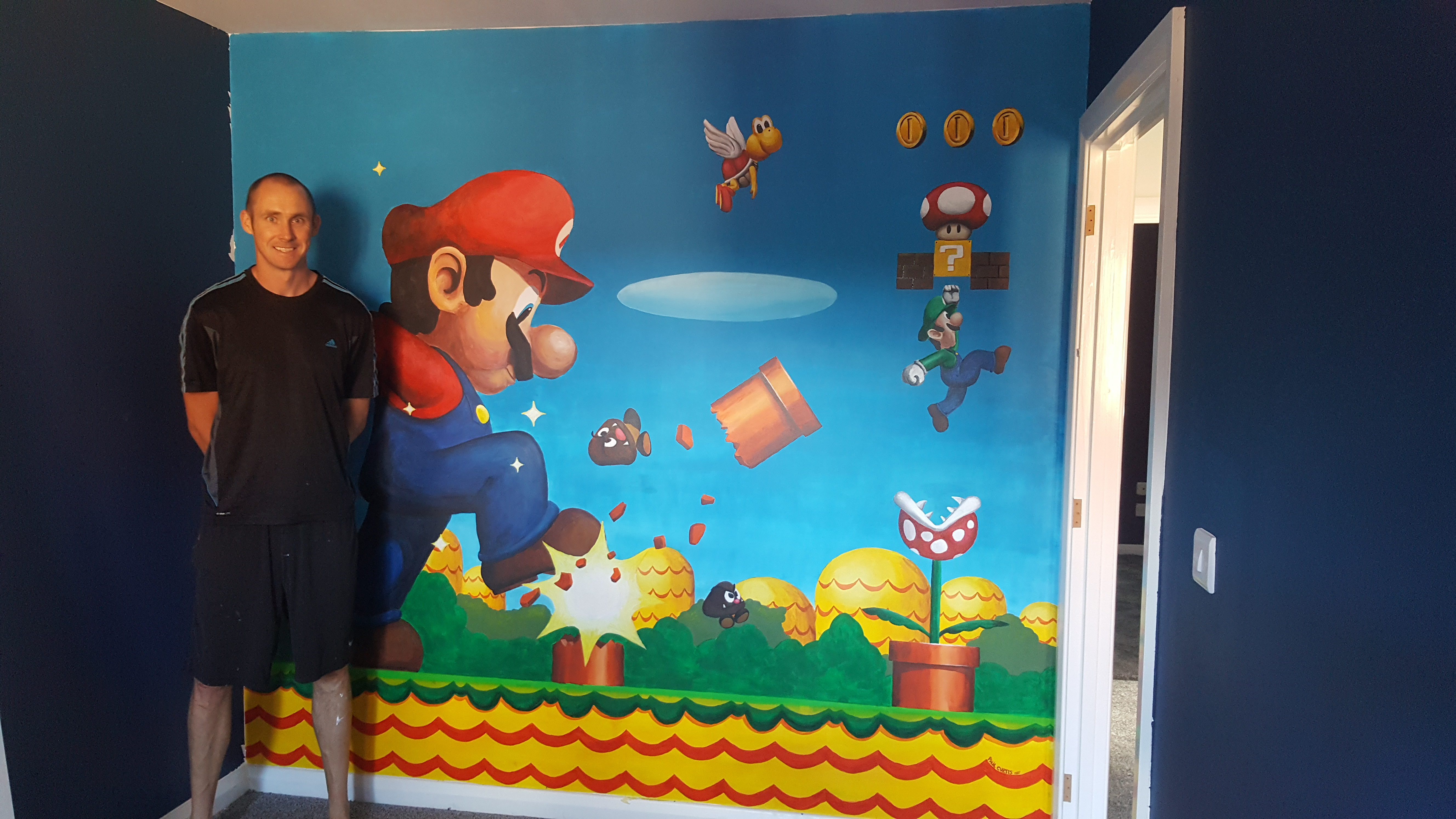 Super Mario Bedroom Mural