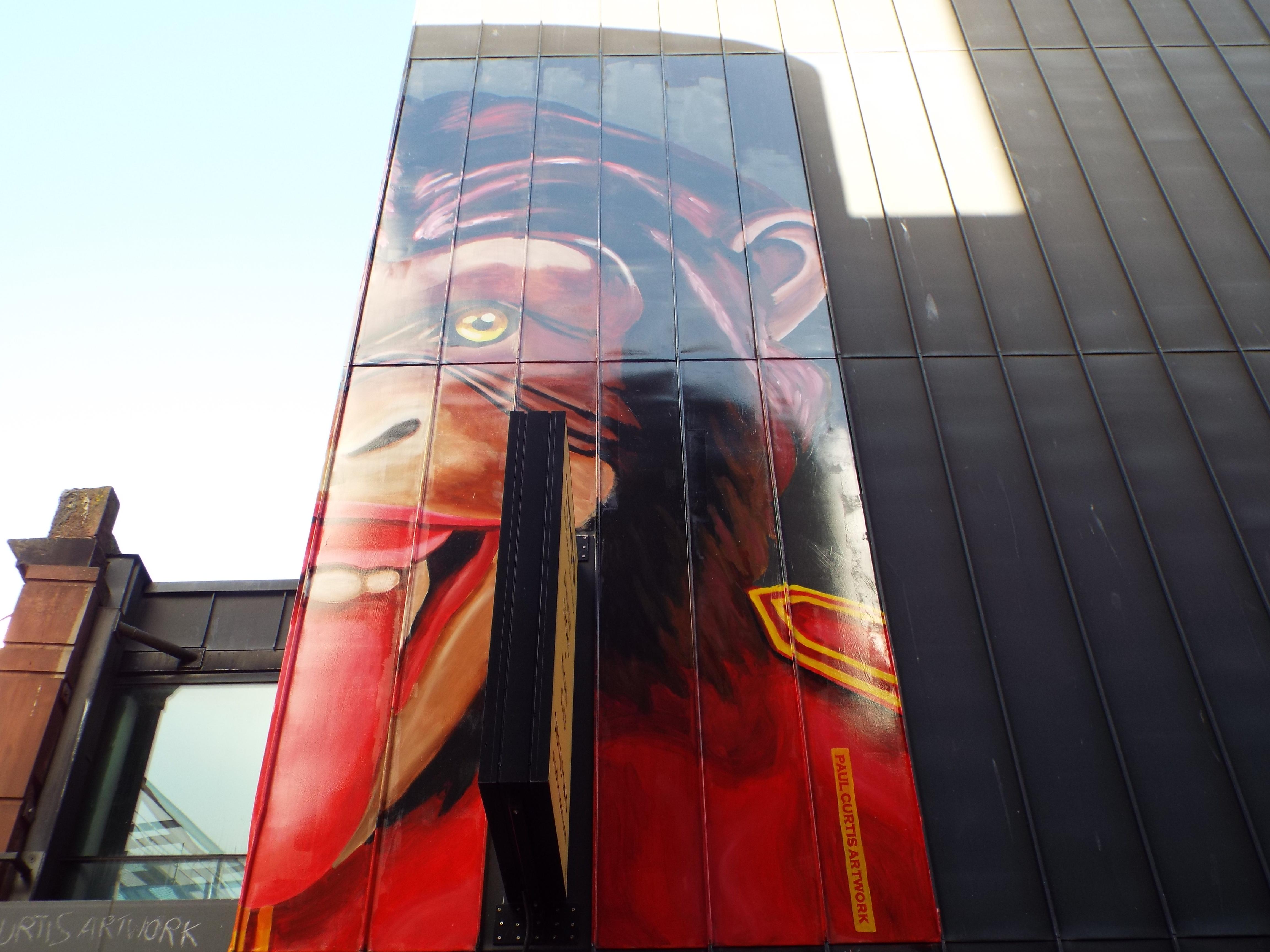 Circus Monkey Mural Street Art