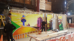 Artwork Fitters at train station