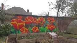 Huge floral artwork - Poppy
