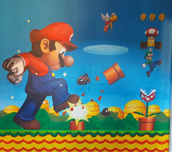 Nintendo Mario Bedroom Mural