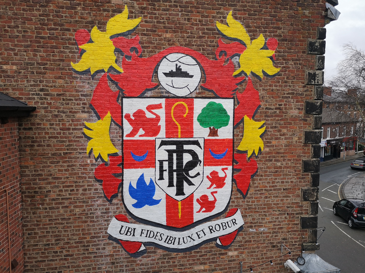 Oxton Tranmere Rovers crest- Paul Curtis