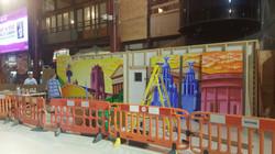 Installing Liverpool Landmark Mural