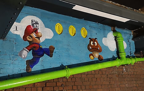 Super Mario and Goomba