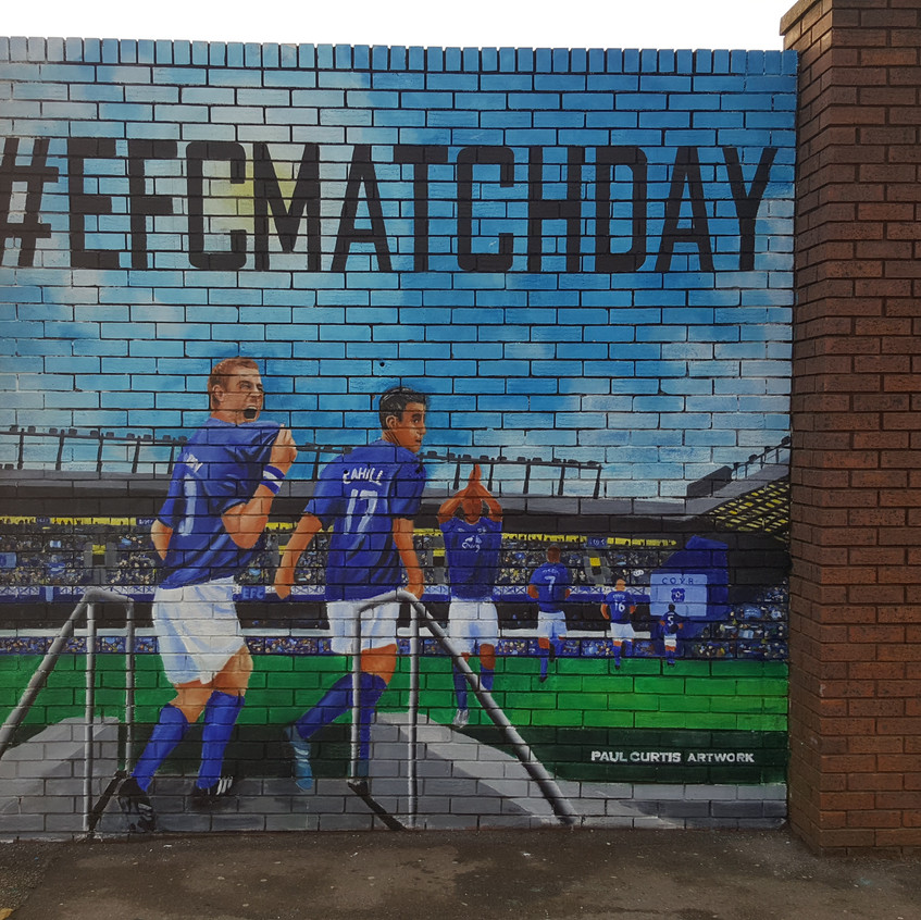 Everton Mural by Paul Curtis Artwork