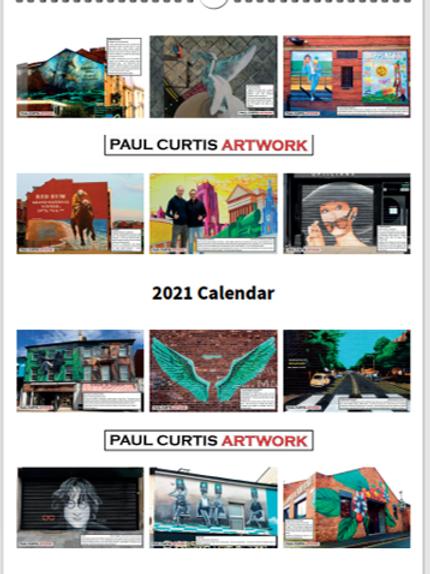 2021 Paul Curtis Artwork Calender