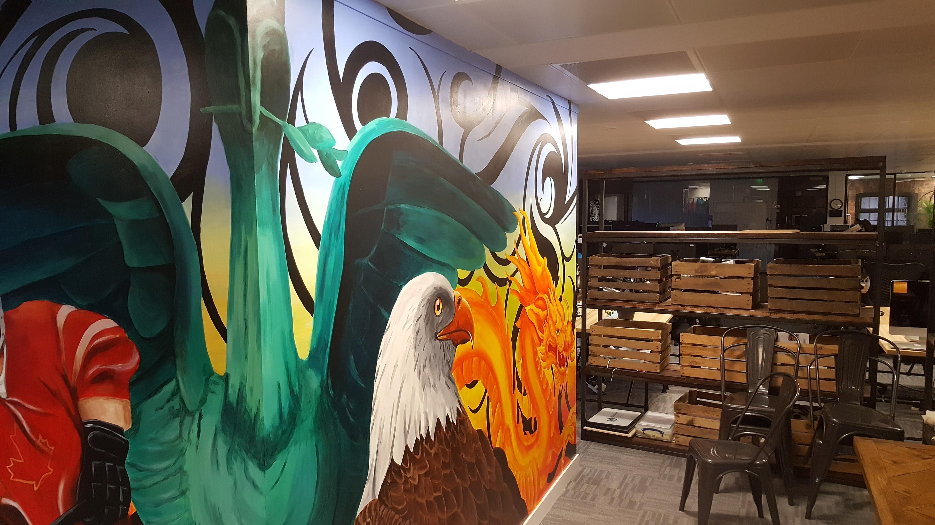 Liver bird Eagle Mural