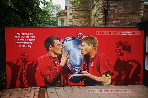 LFC Bastions  - Carragher, Gerrard, Shankley & Dalglish print