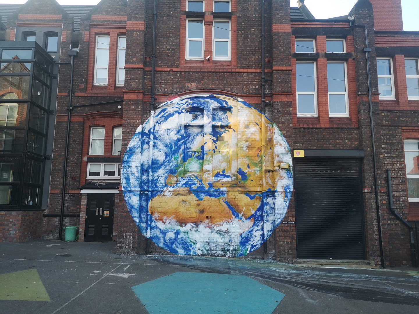 Earth from Anfield mural, Paul Curtis