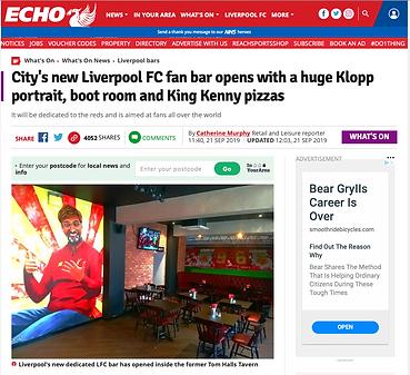 Liverpool Echo- KOP mural- Paul Curtis