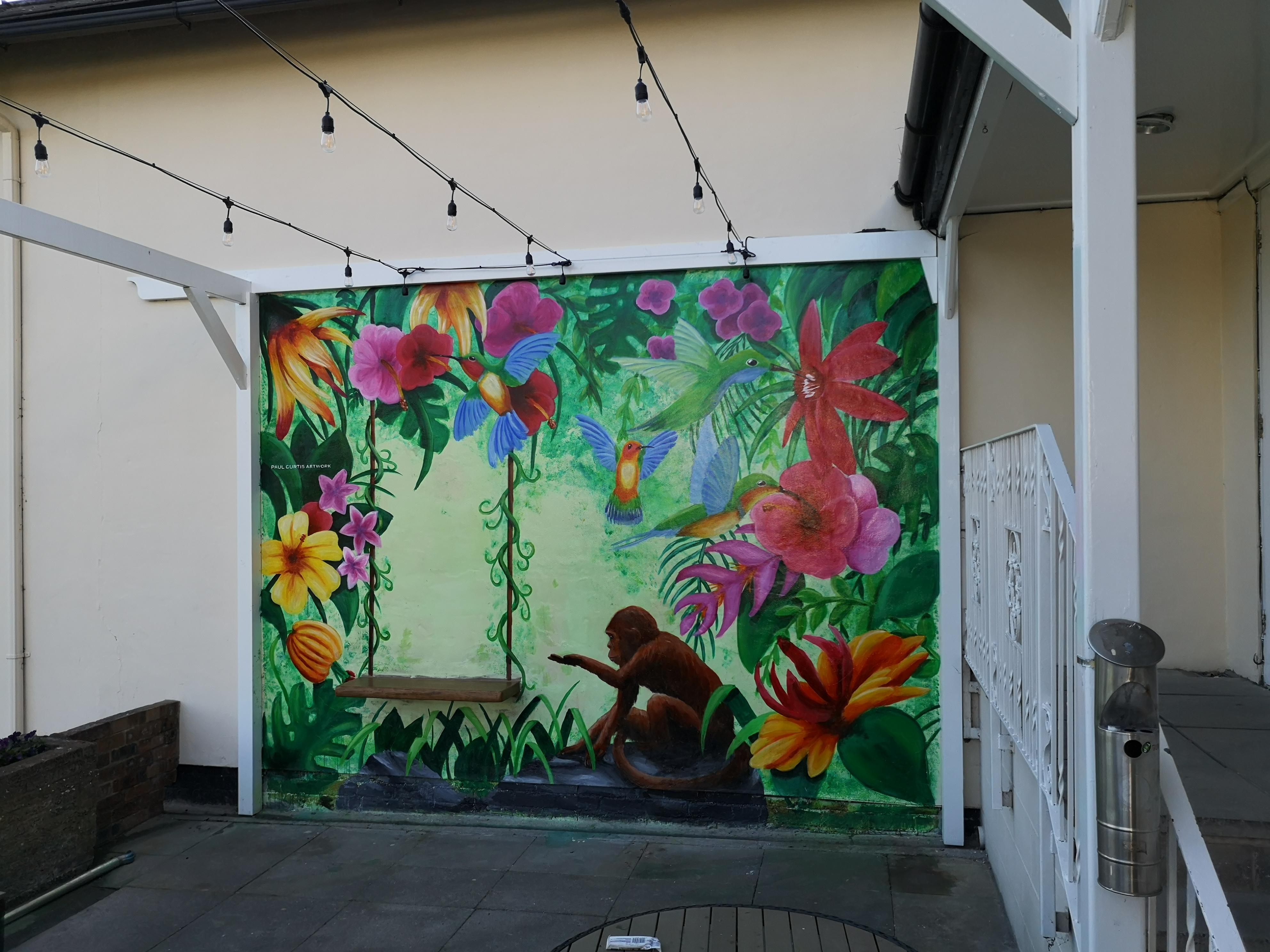 Hotel Jungle Mural