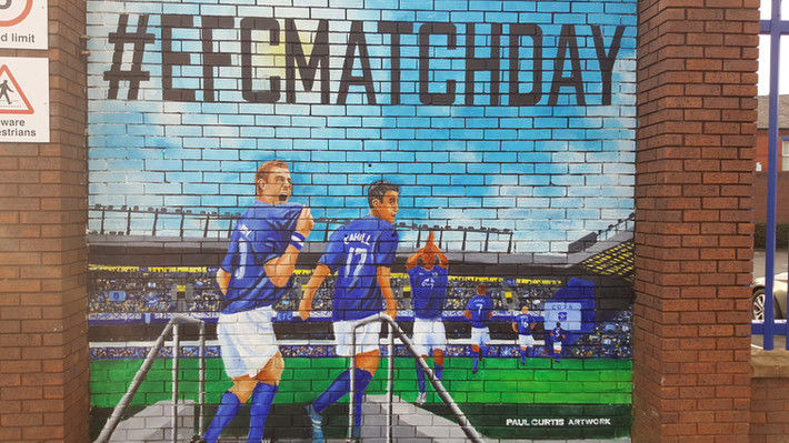 Second Everton Mural by Paul Curtis Artwork complete.