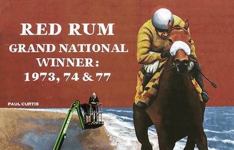 Red Rum final mural- Paul Curtis