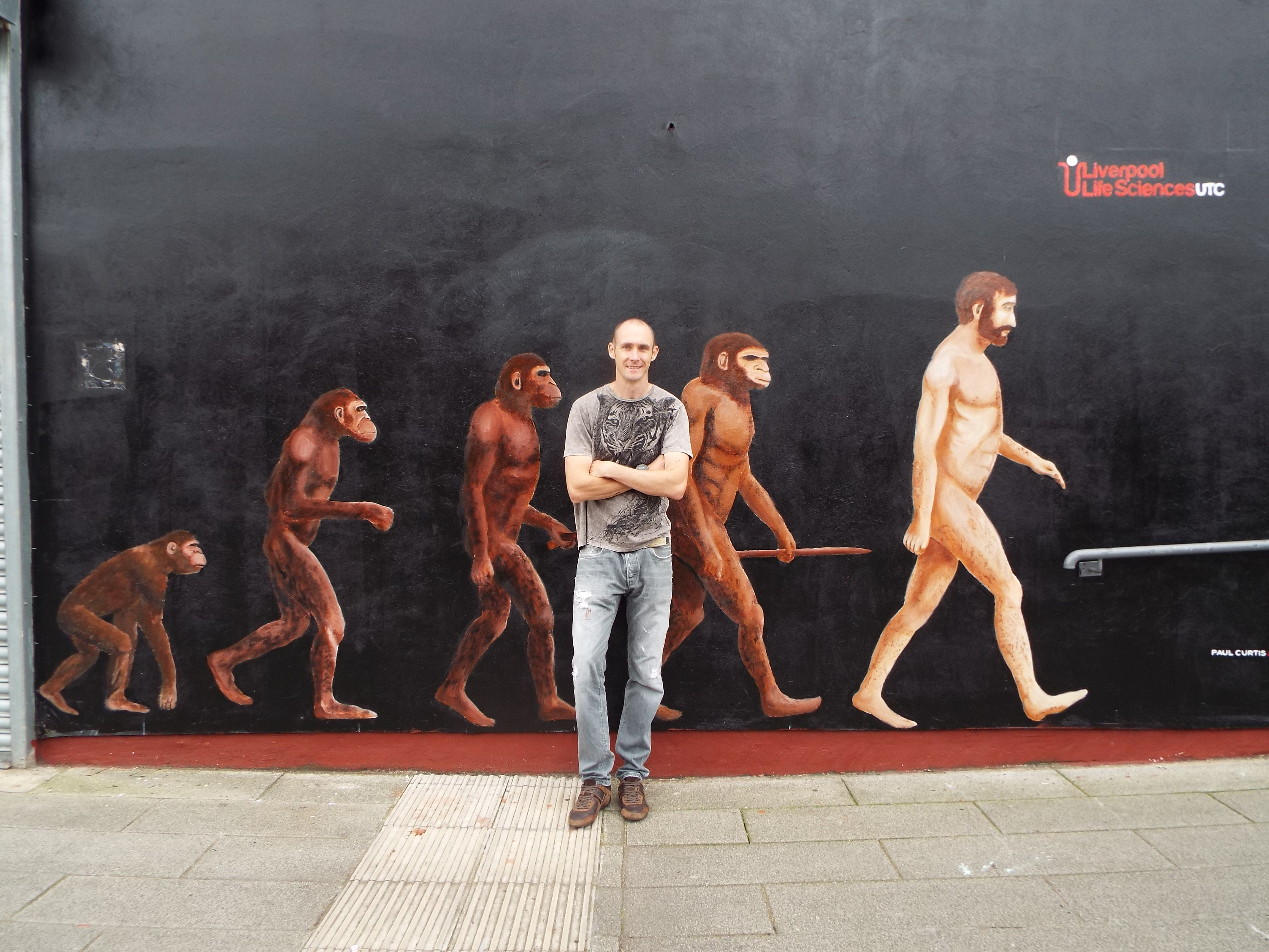 Paul Curtis with Evolution of Man