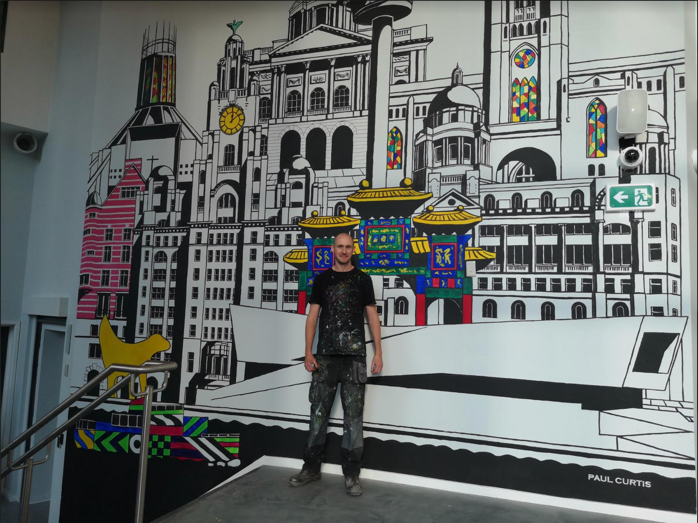 Paul Curtis, Liverpool buildings mural,