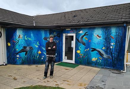 Under the Sea Mural Paul Curtis