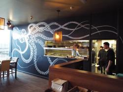 Kraken Octopus Mural