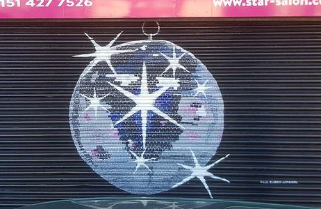 Disco Ball Street Art Paul Curtis