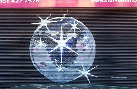 Disco Ball Street Art Paul Curtis