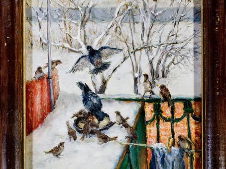 Зимой на балконе
