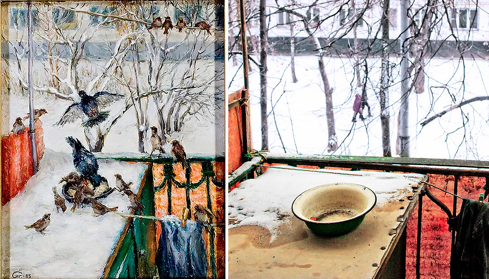 Зимой на балконе СИГ