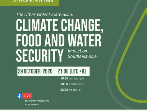 Climate Change, food and water security
