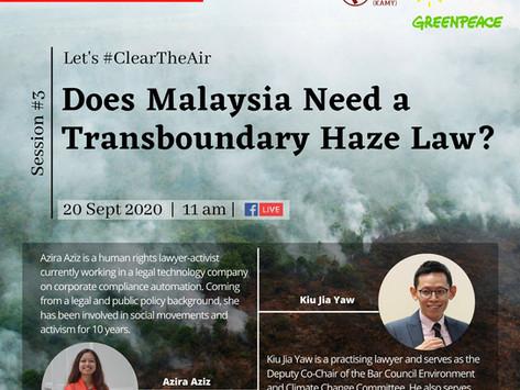 Does Malaysia Need a Transboundary Haze Law?