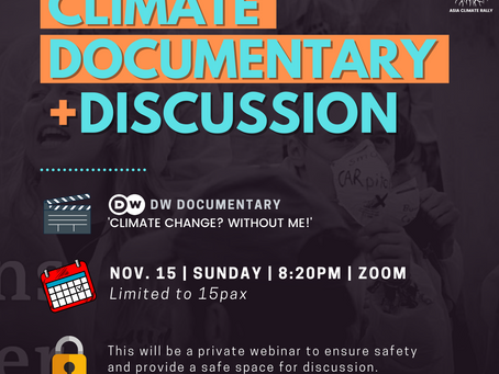 Climate Change? Without me! [Virtual documentary + discussion]