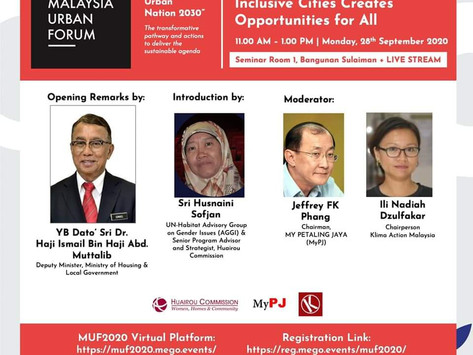 Highlights of Grassroots Assembly of Malaysia Urban Forum 2020