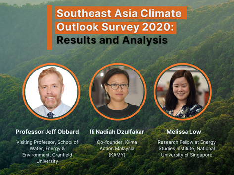Southeast Asia Climate Outlook Survey 2020: Results and Analysis
