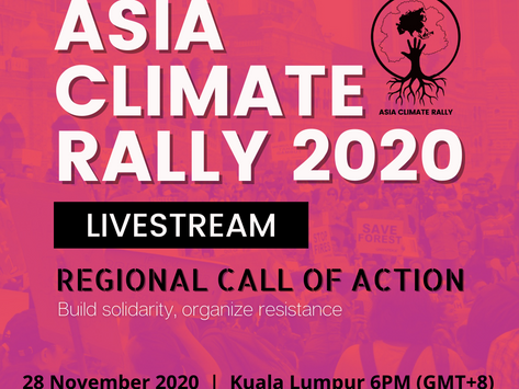 Asia Climate Rally ACTION DAY!