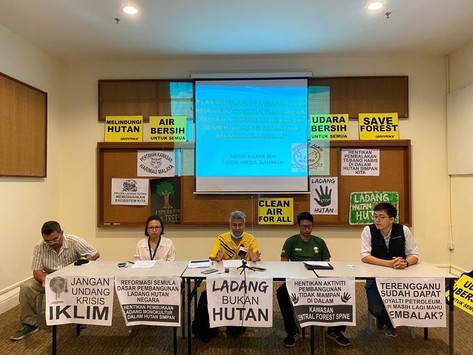 Press statement : Stop monoculture plantations in Permanent Forest Reserves