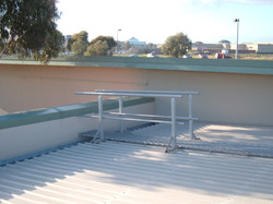 Walkway to a parapet