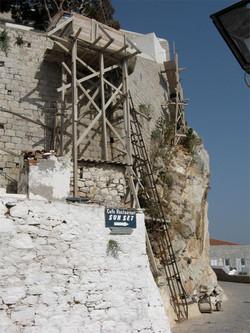 Scaffold & ladder
