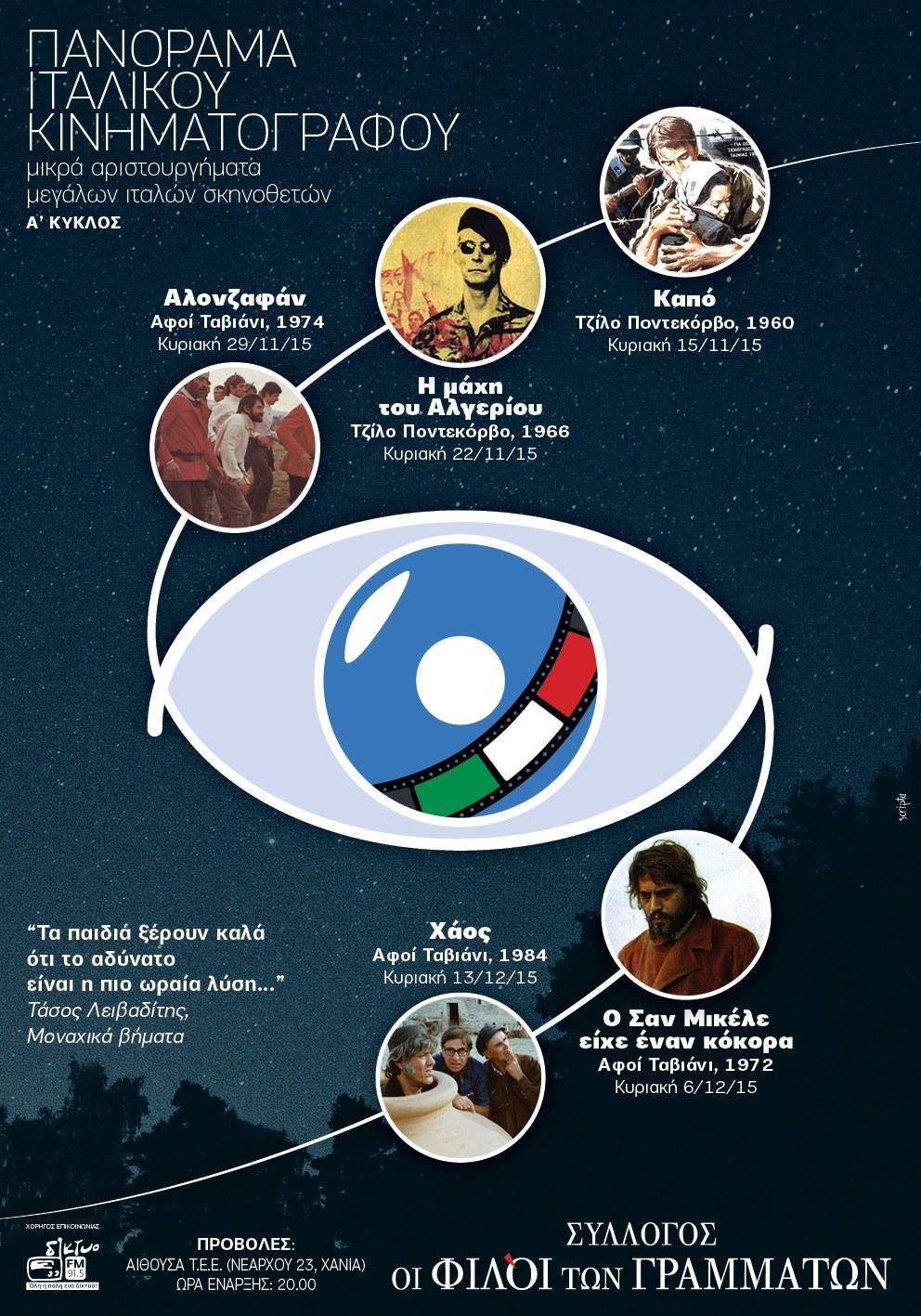 Πανόραμα Ιταλικού Κινηματογράφου Α'