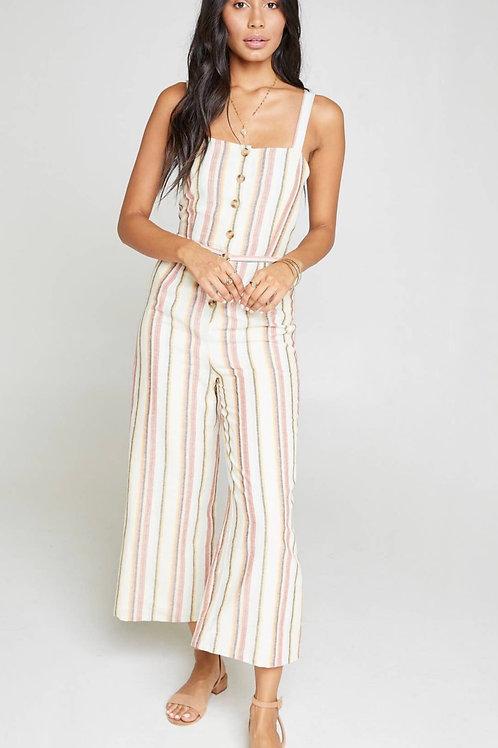 Faithful stripe jumpsuit