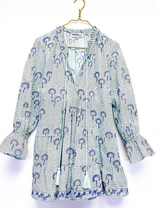 Mini swing dress/ blue