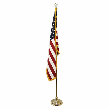 American flag and pole, 3x5