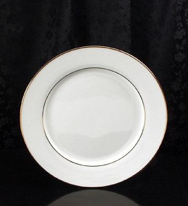 """10 1/2"""" Gold rim dinner plate, pack of 10"""