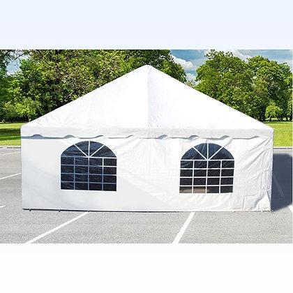 Tent wall windowed, per foot