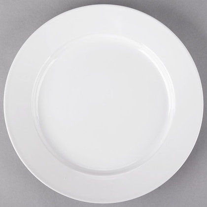 """10 1/2"""" White plate, pack of 10"""