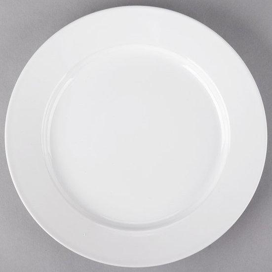 """10 1/2"""" White China plate"""