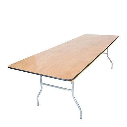 "Banquet table, Queen 8' x40"""