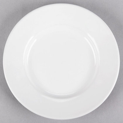 "6 1/2"" White  bread plate, pack of 10"